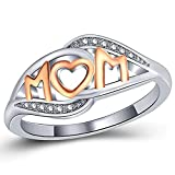 Jude Jewelers Platinum Plated Mom's Ring Mother's Day Gift (10)
