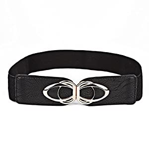 Beltox Fine Womens Belt Elastic Stretch Cinch Waistband Ornament Lady Cummerband