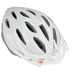 fischer Aruna adult bicycle helmet, white