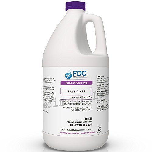 (Salt Cleaner & Neutralizer for Floors | Clean Salt Residue Left Behind by Ice Melters | Rock Salt Floor Cleaner | Salt Remover for Floors - 4 x 1 Gallon Case)