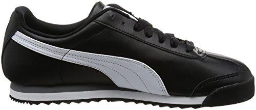 Zapatillas Puma Black white silver Basic Unisex Adulto Roma Negro zzEHxFr