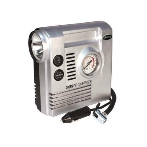 Slime COMP03 12-Volt Air Compressor with Gauge and LED Light