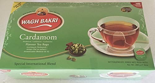 Wagh Bakri Cardamom Natural Flavour Tea Bags - 100 Enveloped Tea Bags