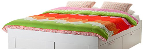 Ikea Angskrasse Duvet Cover and Pillowcases, Twin, Multicolor (Set Emma Comforter Twin)