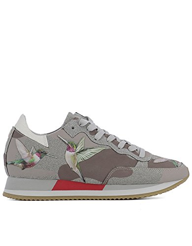 PHILIPPE MODEL FEMME TBLDBG03 MULTICOLORE CUIR BASKETS
