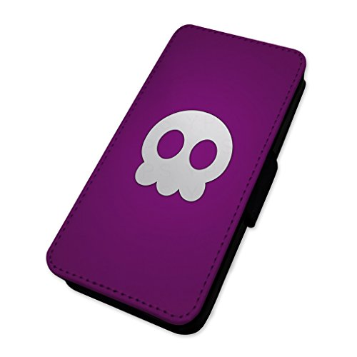 Cute Purple Skull–Animation character–Custodia ad aletta in Skull Cartoon Apple iPhone 6/6S