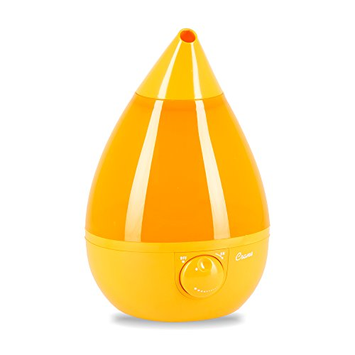 Crane Humidifier, Ultrasonic Cool Mist Humidifiers, Filter-Free, 1 Gallon, for Home Bedroom Baby Nursery and Office, Orange