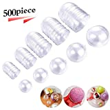 DxJ 25 Set 50 Pieces Clear Plastic Fillable Ornament, DIY Bath Bomb Crafting Mol,Acrylic Clear Plastic Ornament Balls Fillable Christmas Wedding Party Decor with 5 Size 30mm 40mm 50mm 60mm 70mm
