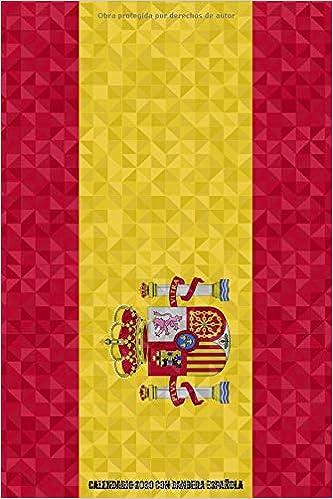 Calendario 2020 con bandera española.: Calendario con esquema ...