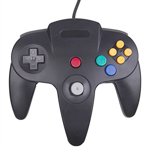 HDE Replacement Nintendo 64 Controller Wired Gamepad for Original N64 Game Consoles (Black) from HDE