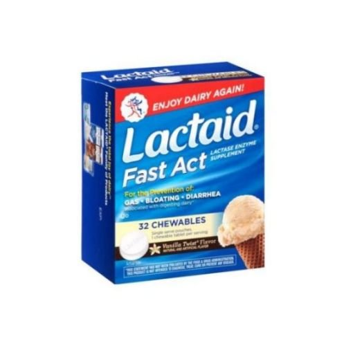 Lactaid Fast Action Chewable Tablets, 32 Count - 24 per case. by Lactaid