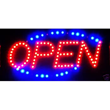 3b63064c8 Amazon.com  LED Neon Light Open Sign With Animation On off and Power ...