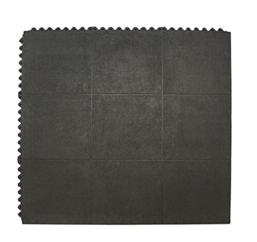 Ultra Thick Rubber Interlocking Floor Mat and Exercise Gym Floor Mats and Garage Flooring 36 x 36 Inches