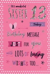 For a special sister happy 13th birthday card pink balloons for a special sister happy 13th birthday card pink balloons bookmarktalkfo Image collections