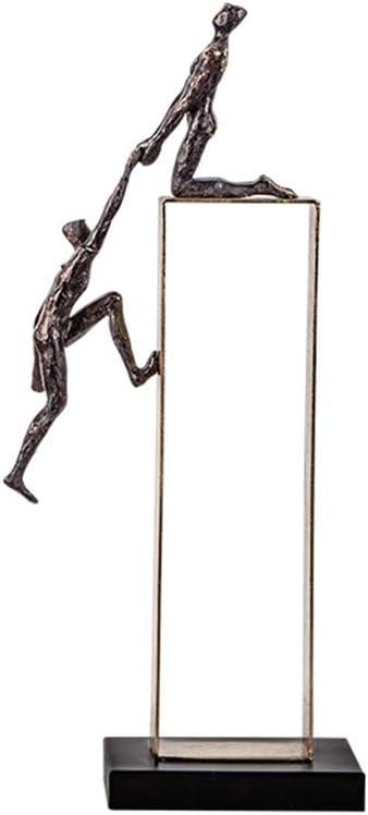 WMDC Creativas esculturas Deportes Escritorio p/éndulo Escalada Art Deco Escultura decoraci/ón Escultura Estatua de Metal Ornamento p/éndulo de la decoraci/ón de Adorno Oficina Decoraci/ón Estatuilla,A