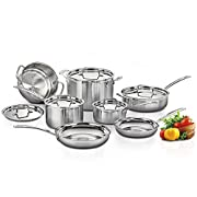 Amazon Deal of the Day: Cuisinart MultiClad Pro Stainless Steel 12-Piece Cookware Set, Silver