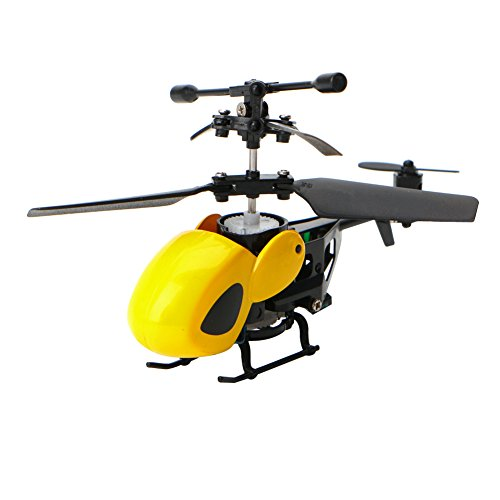 Fang sky 1PC Mini QS5012 2CH Infrared RC Helicopter Remote Control Aircraft Kids Toy New (Yellow)