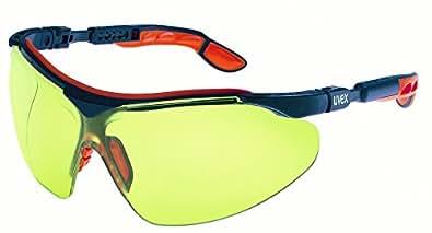 Uvex 9160 520 I-Vo - Gafas protectoras, color azul y naranja