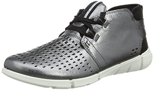 ECCO Women's Intrinsic Chukka Fashion Sneaker, Dark Shadow Metallic, 38 EU/7-7.5 M US