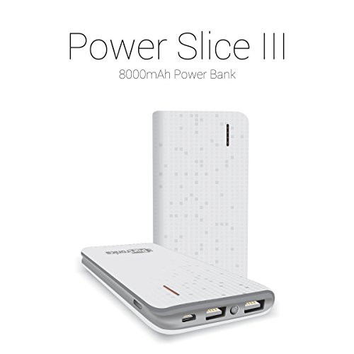 Portronics Power Slice POR 572 8000mAH Lithium Polymer Power Bank  White