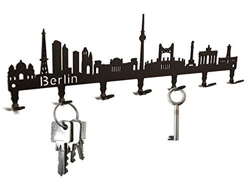 Tablero de llaves - Horizonte Berlín - ganchos para llaves - titular de la clave - 7 ganchos