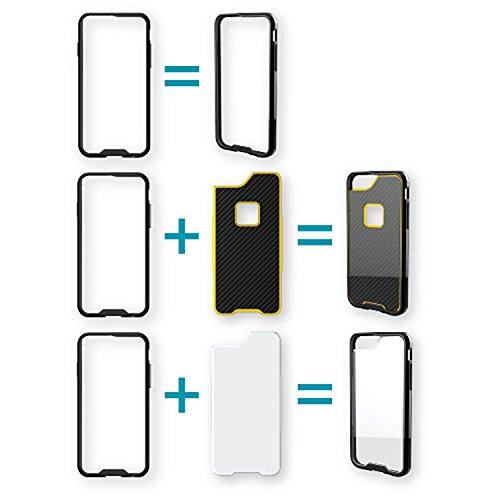 Qmadix R Series Case for iPhone 6 Plus - Retail Packaging - Black/Clear/Carbon Fiber