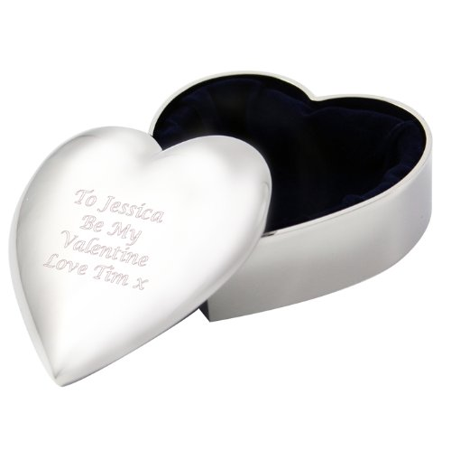 Gift Cookie Personalized Engraved Heart Trinket Box - Shipped From England