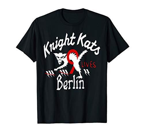 Knight Kats Berlin Cat Symbol Navy and Black Tees T-Shirt