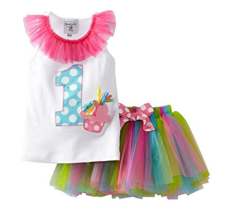 Mud Pie Baby Girl's Birthday Tutu,  Multi,  12 18 (Online Baby Boutiques)