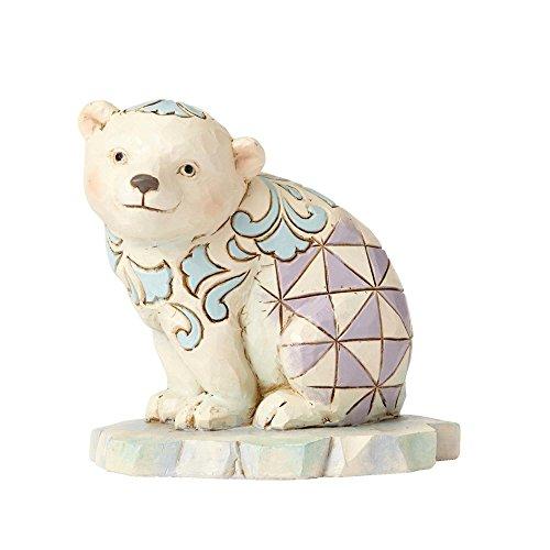 (Enesco Jim Shore HWC Mini Polar Bear On Ice Figurine)