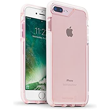 BodyGuardz - Ace Pro Case, Extreme Impact and Scratch Protection for iPhone 7 Plus (Pink/White)