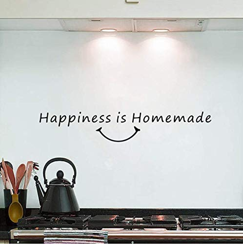 Leguliya Happiness Homemade Kitchen Dining Room Vinyl Wall Sticker Art Quote Lettering Decor