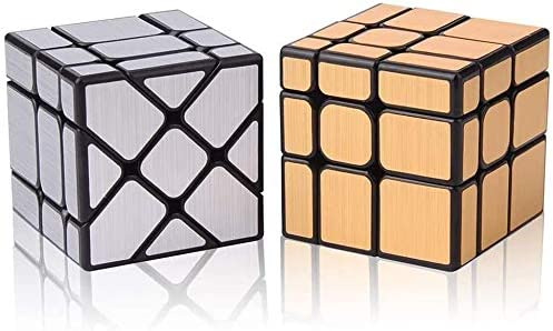 TANCH Dysmorphism Mirror Surface Speed Magic Cube 3X3 Puzzle for Children /& Adults Silver