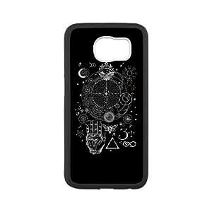 Samsung Galaxy S6 Cell Phone Case White Magic Symbols for an Alchemist Dreamer Yspp