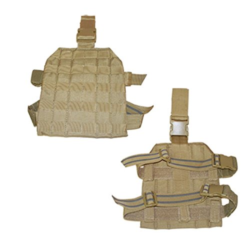 Molle Drop Leg Tactical Thigh Rig Pals Platform Panel Holster Tan - Molle Drop Leg Holster Panel