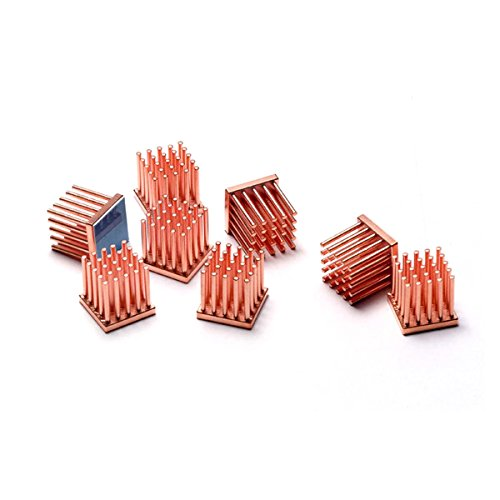 Enzotech Graphics Card Passive Heat Sink, 14 x 14x 14 mm, Copper, 8-Pack