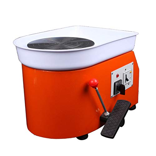 220V 250W Pottery Wheel Ceramic Machine Foot Pedal Ceramic Clay Art Mould (Pottery Wheel For Kids Best Rated)