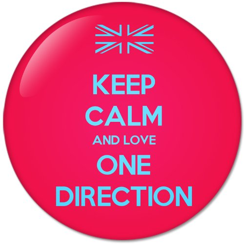 KEEP CALM AND Love ONE DIRECTION (58mm) Bottle Opener Round Button Badges With Refrigerator Magnet, NEW (One Direction Pinback Buttons)