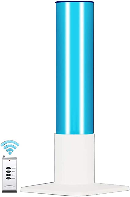 Wj 220V Air Ozone Y Free Kill Remover Molde Gripe Bacterias Polvo De Ácaros Germen Luz UV, Desinfección con Lámpara De Mesa Esterilizador Limpia, Ozono + Control Remoto 31-40W: Amazon.es: Hogar
