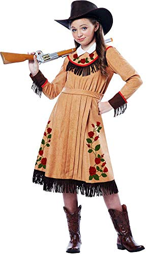 Wild West Annie Oakley Cowgirl Dress Outfit Cowboy & Western Costume Child Girls ()