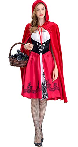 Women's Little Red Riding Hood Halloween Costume with