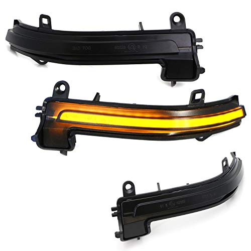 iJDMTOY Smoked Lens Side Mirror Sequential Turn Signal Lamps For BMW 1 2 3 4 Series i3 (F20 F21 F22 F30 ()