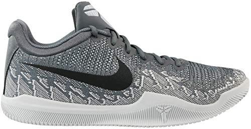 Nike Men's Mamba Rage Basketball Shoes Dark Grey/Black/Pure Platinum/White Size 10 M US
