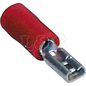Spade Terminal (Red) Size:2.8mm (Female) - L&S Engineers by L&S Engineers