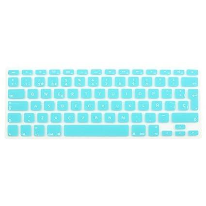 eDealMax la piel del teclado español cubierta Azul claro de la UE Para el MacBook Air