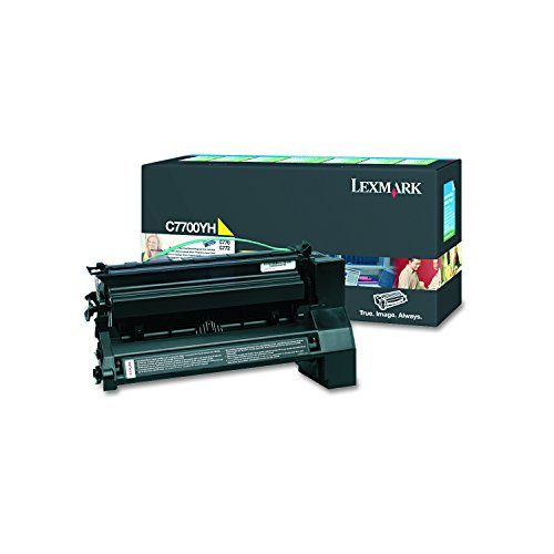- Lexmark C7700YH High-Yield Toner, 10000 Page-Yield, Yellow
