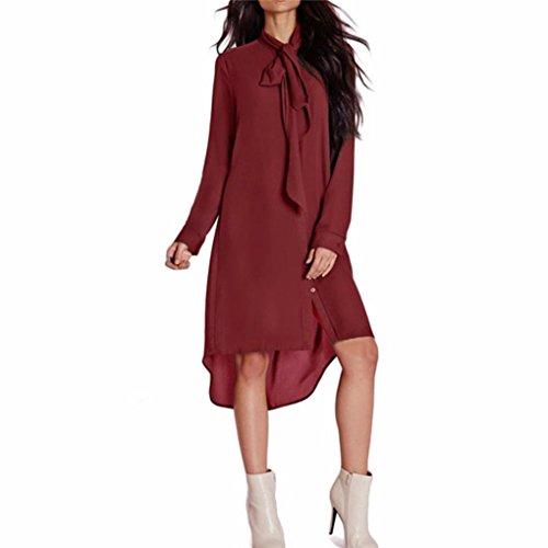 Damen Party Club Lose Fliege Kleider Pinup Rockabilly Kleid ...