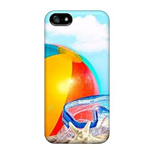New Style Jeffrehing Beach Ball And Goggles Premium Tpu Cover Case For Iphone 5/5s