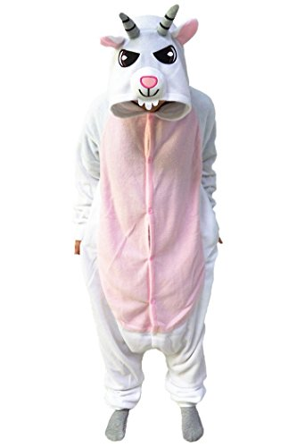 [WOTOGOLD Animal Cosplay Costume Unisex Kids Goat Pajamas White] (Children's Goat Costume)