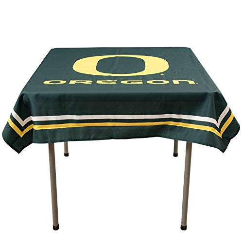 (College Flags and Banners Co. Oregon Ducks Logo Tablecloth or Table Overlay )